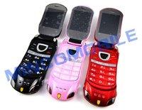 Мобильный телефон Unlocked Dual SIM Quad Band Flip Mobile Phone W8 Car Phone with Camera, FM, Bluetooth