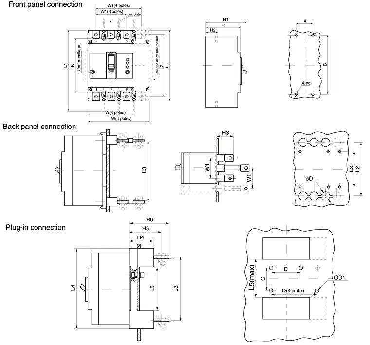 Circuit Breaker Symbol Circuit Breaker 100a Elcb