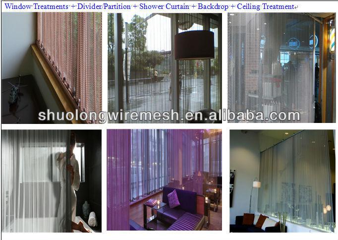 Flexible Decorative architectual curved cascade coil curtain