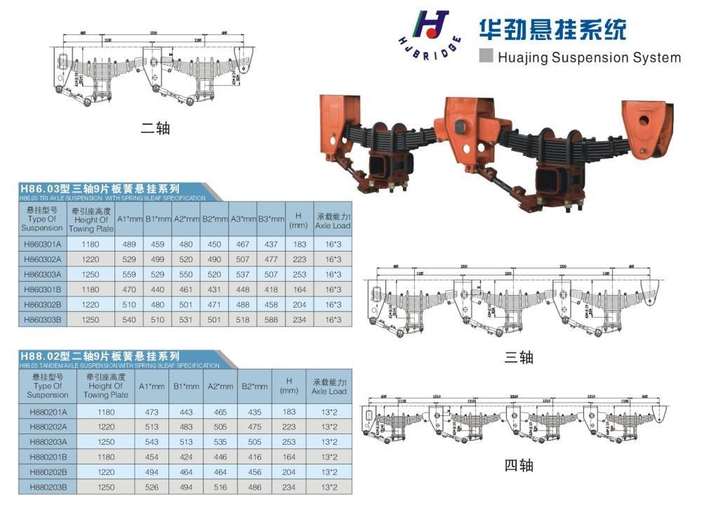Trailer Axle & Semi-trailer Axle Assembly 9Ton-18Ton