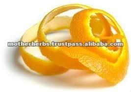 Dried orange peel for cosmetics