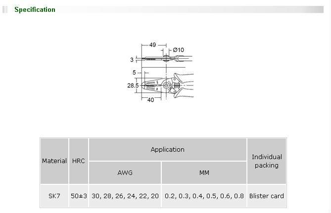 Brand ProsKit 1PK-3001E Precision Wire Stripper With Conductive Handle