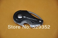 TRUEUTILITY Portable Multi Folding Knife keychain Mini fruit knife Pocket Knife 420 stainless steel