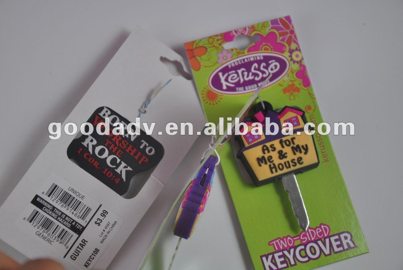 soft pvc custom key head cover
