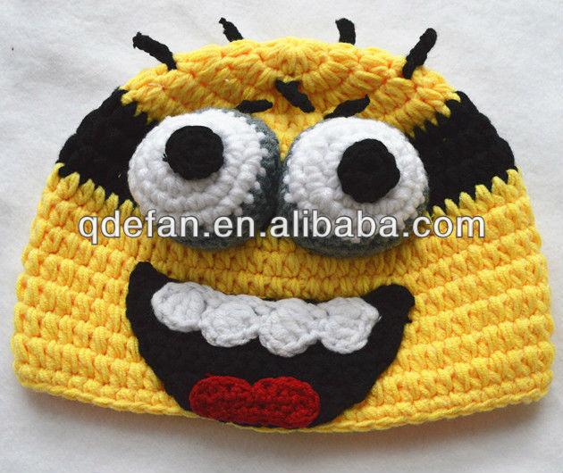 Personaje de dibujos animados minion sombrero del ganchillo ...