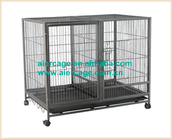 High quality square tube modular metal dog cages