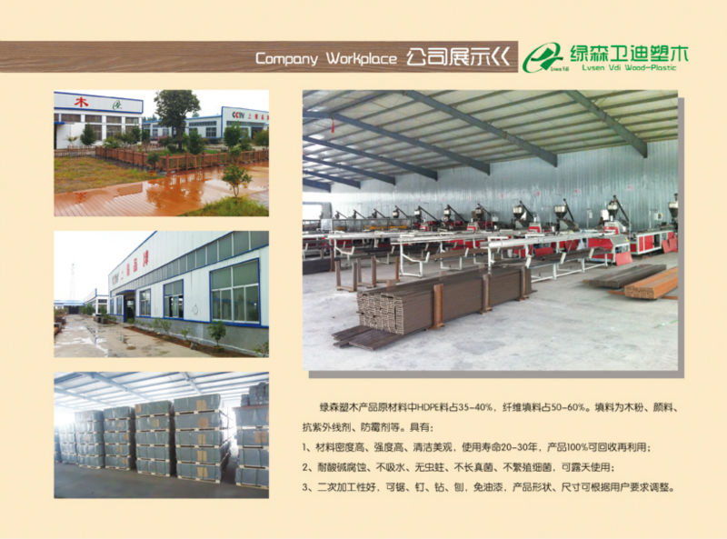 Hot sale!water proof composite wood composite passed CE Germany standard ISO9001