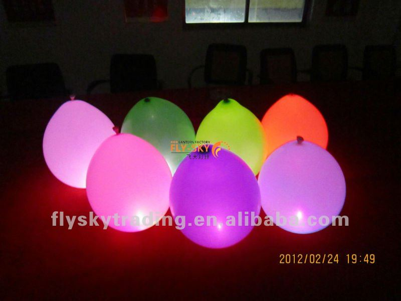 party light led flashing latex balloons