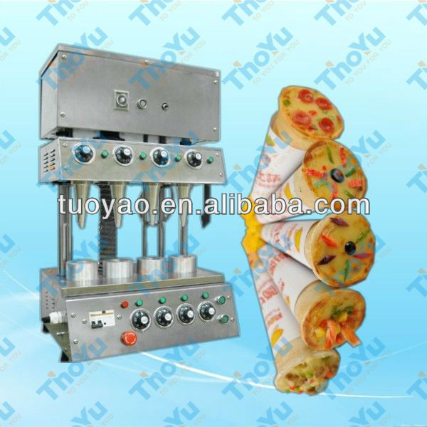 High efficiency coiling block pizza making machine