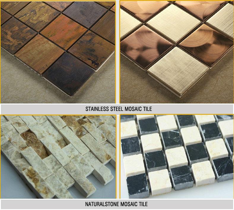 Marble mosaic floor tiles