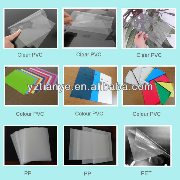 Rigid/soft super clear PVC plastic sheets