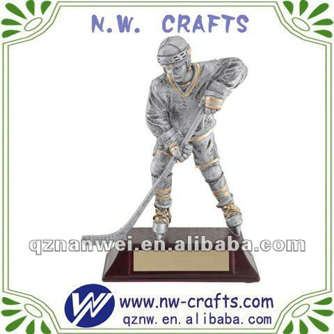 Polyresin hockey statues crafts