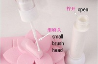 Free Shipping 48 colors 2-Way Glitter Makeup Nail Polish Art Striper Pen +Varnish Brush Set
