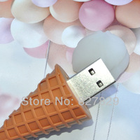 USB-флеш карта 3D White Ice cream 2GB 4GB 8GB 16GB 32GB 64GB 128GB USB Flash 2.0 Memory Drive Stick Pen u disk