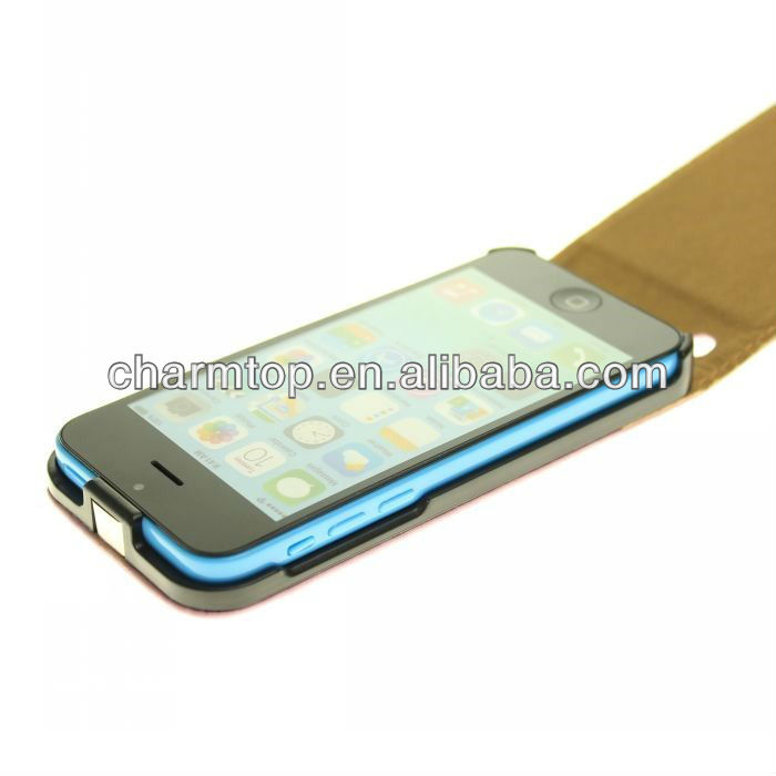 Genuine Leather Flip Case For Apple iPhone 5C