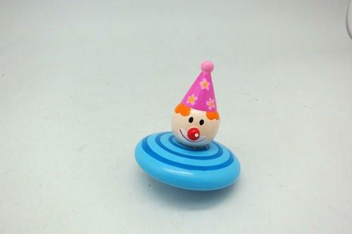 cute cartoon shape wooden top spin