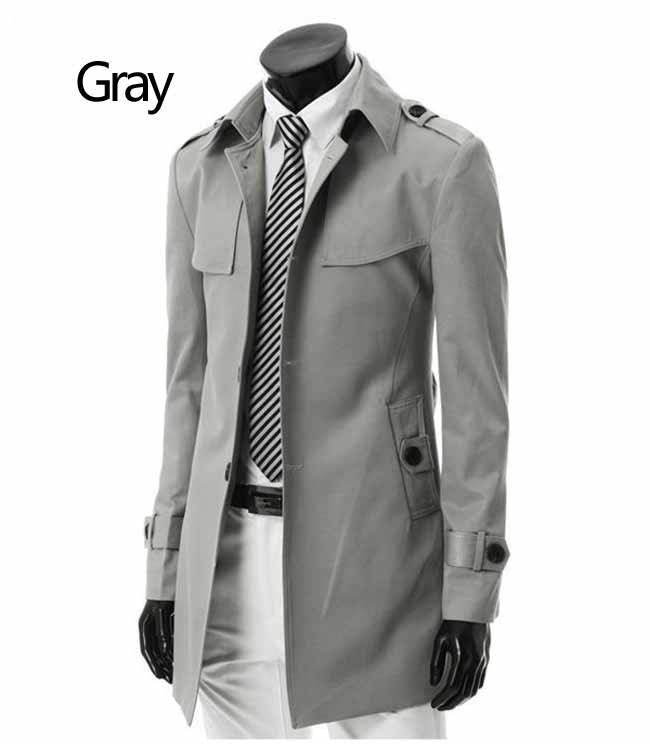 Promotion fall winter 2012 new British style boutique single-breasted men's leisure outercoat mens jackets long dust coat M-XXXL