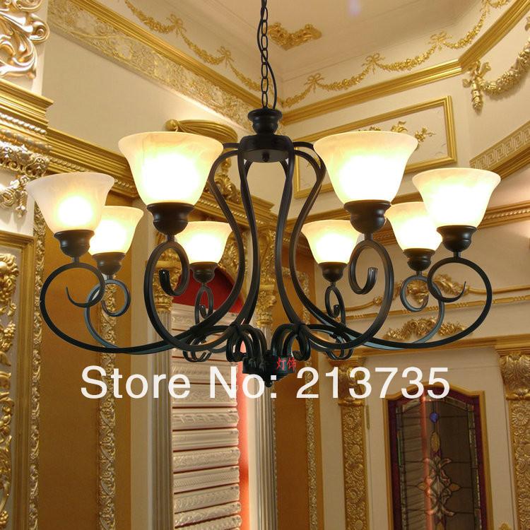 Купить Железная светильник крышка гостиная люстры фары, Спальня свет, Лампы для дома современный