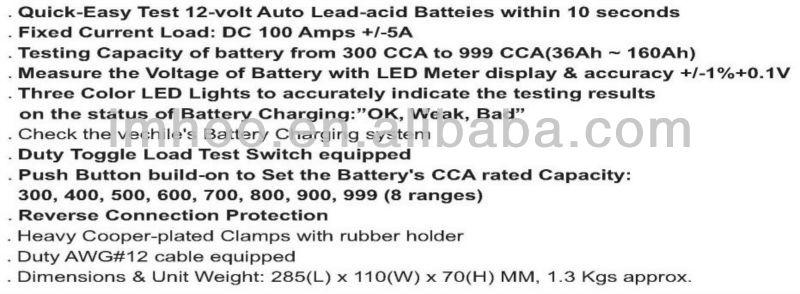 Car Battery Tester FY-64D
