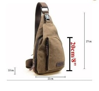 Рюкзак 8057 Men's Canvas Unbalance Backpack Women's Shoulder Sling Chest Hiking Bicycle Bag