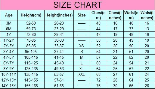 Roberto Cavalli Dresses Size Chart for children s clothes and