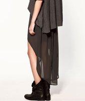 Женская юбка Fashion Lady Women's Elastic Waist Band Chiffon Irregular Long Skirt Dress New