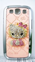 Чехол для для мобильных телефонов Bling Crystal 3D Hello Kitty, Pink Cartoon Hello Kitty leather Back case for samsung i9300 galaxy slll