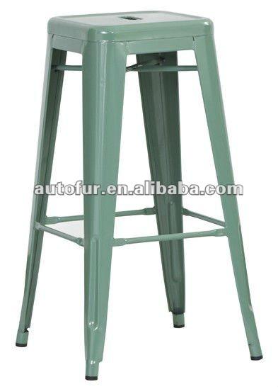 vintage metal stool 2