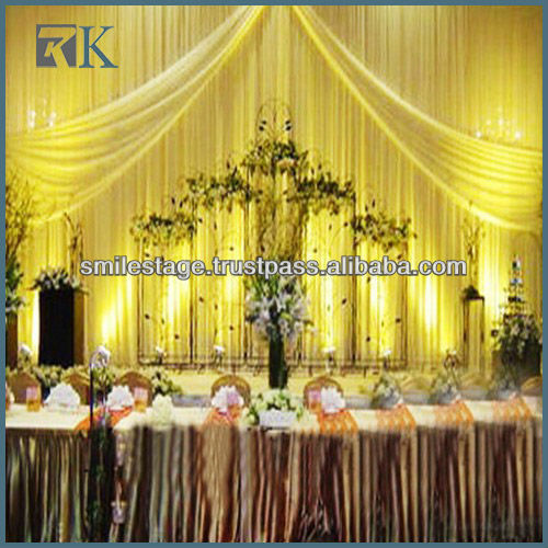 Luxury Hotel 100% Polyester Decorative Curtain