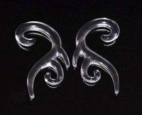 Ювелирное украшение для тела 10PCS 10g 2.5mm PAIR Ear Plugs Ring Earrings 0 Gauge Acrylic Black Curved taper Talon Taper Body Piercing abc