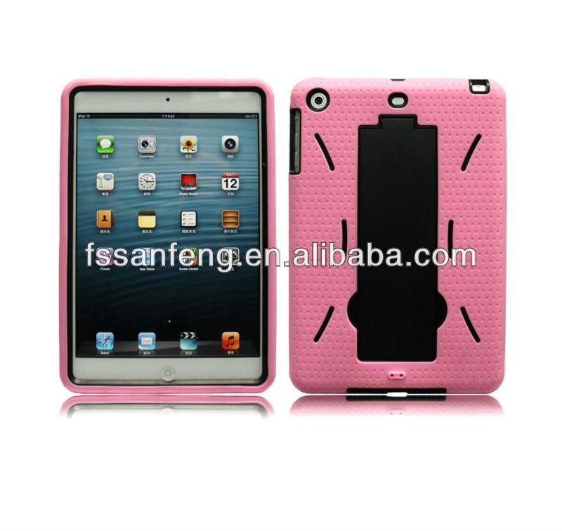 Light Blue 2in1 PC Silicon Case for iPad mini,Kickstand Case for Apple iPad mini