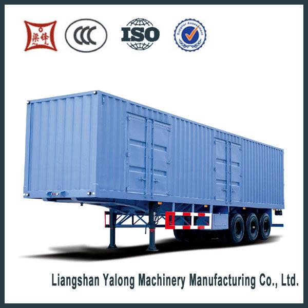 2/3 axles cargo box semi trailer motorcycle trailer sale