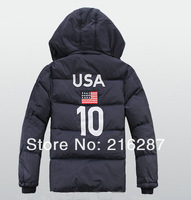 2013 Autumn R-L NO.10 hoodie Polo Down jacket/Men hoodie winter loose hoodie jacket/long sleeve Sport casual winter Polo coat