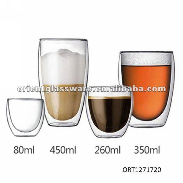 double paroi de verre tasse de caf verre id de produit. Black Bedroom Furniture Sets. Home Design Ideas