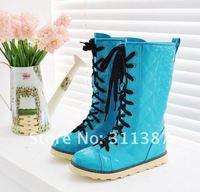 Женские ботинки 15 off per $150 order, 2012 fashion PU Spring&Autumn cross-belt Martin boots, boots for women SYN01006