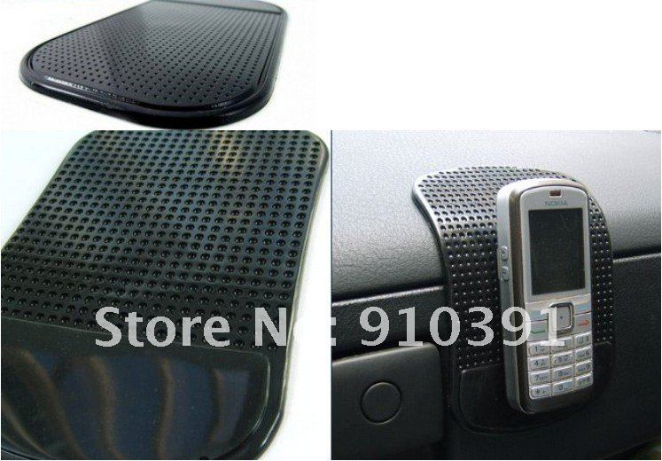 FreeShipping,Retail Package,car sticky pad,Powerful Silica Gel Magic Sticky Pad Anti-Slip Non Slip Mat for cell Phone PDA mp3mp4