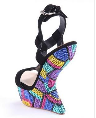 women sandal alibaba china 2014!Women trendy wedge heel sandals! fashion high heel sandals for women !