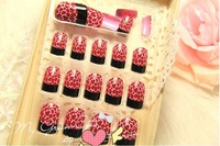 FREE SHIPPING ,new arrival,  sexy leopard grain design FALSE NAIL 24pcs/lot,artificial nails