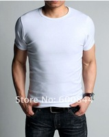 2012 New Spring High-elastic Lycra Cotton Men's Short Sleeve O Neck Tight T Shirt Free Shipping Drop Shipping Offered Kg047