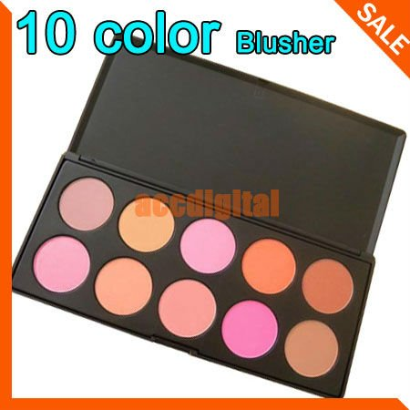 Fashion 10 Color Makeup Cosmetic Blush Blusher Powder Palette , free shipping