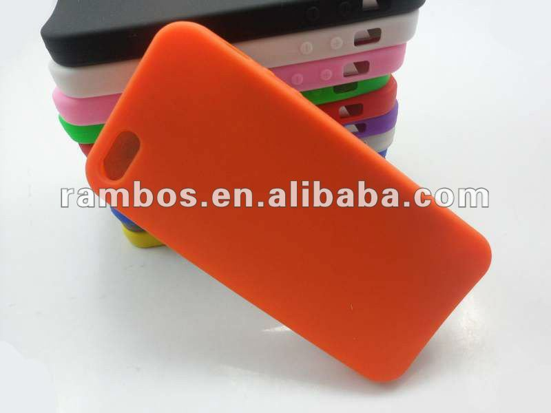 Clear Silicone Color Cover Rubber Customized case for iPhone 5