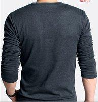 мужская рубашка поло человек вязание свитер отдыха V-воротник хлопок рубашки поло, b344