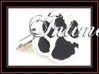 Intime fashion shipping free classic high quality animal pawl black enamel cufflinks