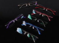 New Arrival Freeshipping Best selling fashion stainless steel optical eyeglasses metal rimless frame 1118 ready-made wholesale