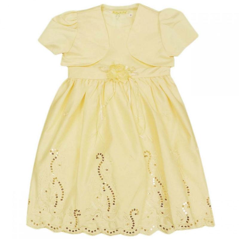 Meninas bordado do vestido de casamento com Sheer flor creme 13 Months ...