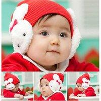 Шапка для мальчиков 1pcs New Baby Toddler Kids Boys Girls Winter Ear Flap Warm Hat Beanie Cap Rabbit H0108