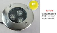 IP65 3w светодиодные Открытый подземный свет ac110v-220v Светодиодные похоронены света высокой мощности красный/желтый/синий/зеленый/белый led лампа подземных