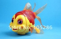 Factory trialsale 1pc novelty electronic goldfish toy new electronic goldfish education toy free shipping