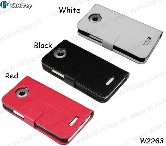 Flip Leather Case for HTC One X.3 different Colors to Mix.10% Off(2 Lots or more).Competitive Price.Free DHL