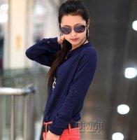 Корея рубашки рубашки женские модные блузки рубашки Топы женщин одежду летняя блузка o шея блузка
